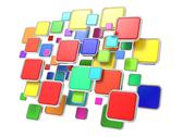 Stock Illustration of Cloud of Empty Program Icons. Software Concept.