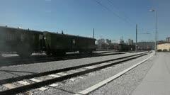 Stil railway tracks with spooky mist added. Stock Footage
