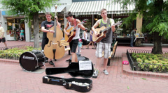 Continuum band in Boulder Colorado Stock Footage