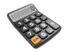 Black Calculator. Mathematics object. - stock illustration