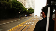 San Francisco Cable Car Slow Motion - 1080p Stock Footage