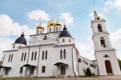 Dormition cathedral of dmitrov kremlin, russia Stock Photos