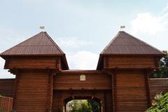 Nikolsky gates of dmitrov kremlin, russia Stock Photos