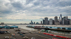 Stock Video Footage of New York Waterfront time lapse
