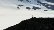 Stock Video Footage of Aerial distant view of lone climber remote wilderness  Alaska, USA