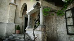 Shot of the entrance in the Bled`s castle Stock Footage