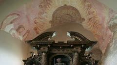 Shot of the old church altar Stock Footage