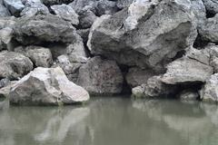 stone ditch - stock photo