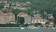 Stock Video Footage of Portorose harbour and riviera from the sea