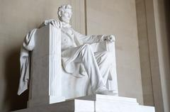 Statue of Abraham Lincoln seated at the Lincoln Memorial, Washington DC Stock Photos