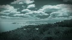 Harbor from distance in specific color Stock Footage