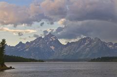 USA, Wyoming, Teton Range - stock photo