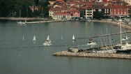 Stock Video Footage of Isola port with some boats comming in and out