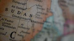 Sudan on the Globe Stock Footage