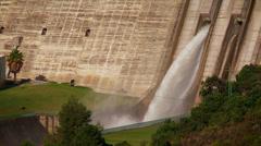 La Concepcion reservoir dam releases water. Stock Footage