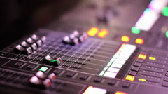Short clip of a digital mixer Stock Footage