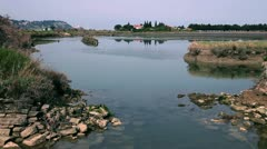 Old sea channel which is part of Saltpans Stock Footage