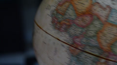 Globe spins to East Africa - stock footage