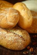 baking fresh baked bread - stock photo