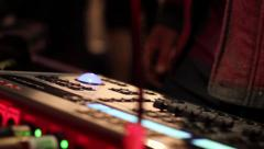 Laptop and lighting desk live event Stock Footage