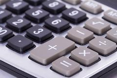 Stock Photo of close up of calculator
