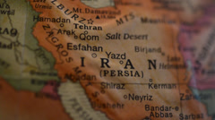 Globe spins to Iran - stock footage