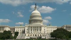 US Capitol Time-Lapse, West Front - stock footage