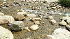 Cold mountain stream Stock Footage