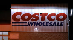Costco storefront shopping carts Stock Footage