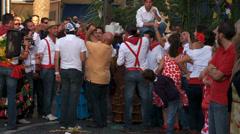 Feria scene, people cheer & shout, Spain Stock Footage