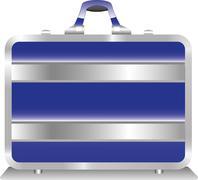Security Blue Suitcase - stock illustration