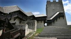 Old castle near Celje Stock Footage