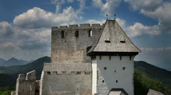 Part of an old castle Stock Footage
