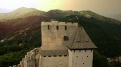 Castle of Celje Stock Footage