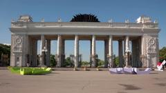Gorky Park hyperlapse Stock Footage