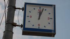 Street clock timelapse Stock Footage