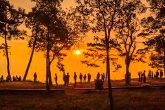 phu kradung nation park - stock photo