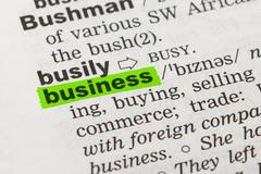 Stock Photo of word business in dictionary