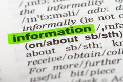 Stock Photo of word information in dictionary