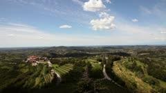 Panoramic a litlle willage near Gorizia Stock Footage