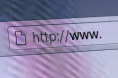 world wide web in address bar - stock photo
