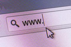 www text in address bar - stock photo