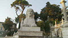 Statues at Piazza del Popolo, Rome 3 (slomo dolly) Stock Footage