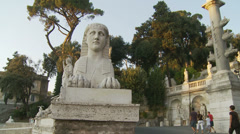 Statues at Piazza del Popolo, Rome 4 (slomo dolly) Stock Footage
