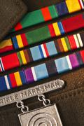 Stock Photo of Armed services badges