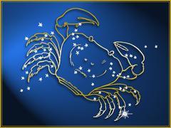 Stock Illustration of Cancer astrological sign