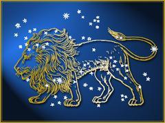 Stock Illustration of Leo astrological sign