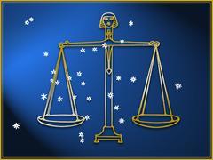 Stock Illustration of Libra astrological sign