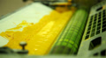 coloration in the printing equipment (yellow) Footage