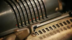 An old cashier Stock Footage